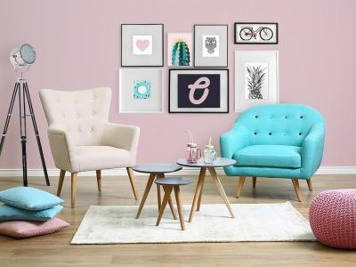 Kényelmes fotel a nappaliban - nappali ötlet, modern stílusban