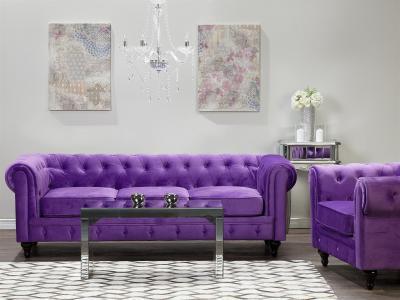 Lila kanapé - nappali ötlet, klasszikus stílusban