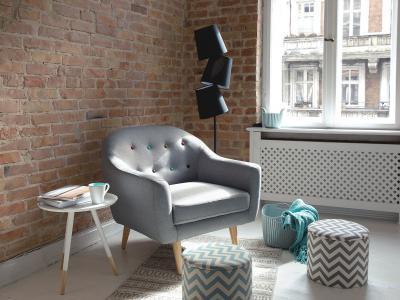 Design állólámpa - nappali ötlet, modern stílusban