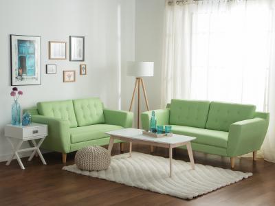 Mentazöld kanapé - nappali ötlet, modern stílusban