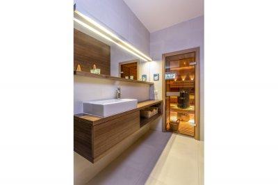 Modern vizesblokk - fürdő / WC ötlet