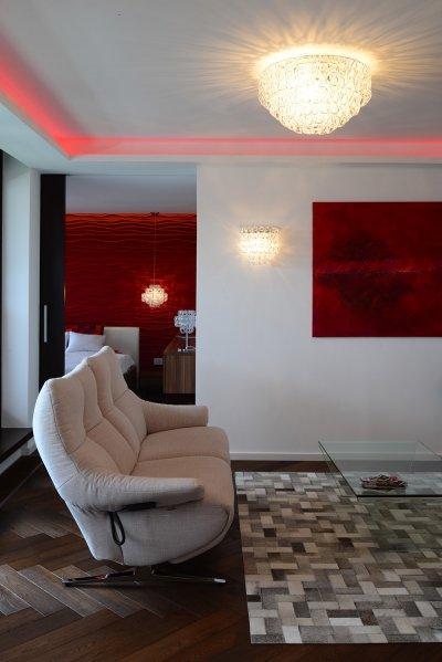 Muránói üveg lámpacsalád - nappali ötlet, modern stílusban