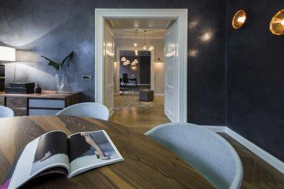 Varázslatos lámpák - dolgozószoba ötlet, modern stílusban