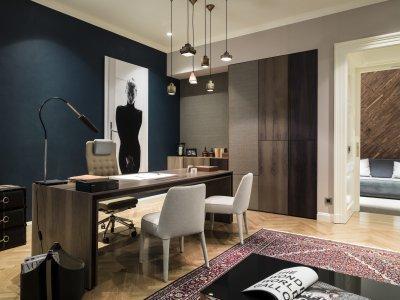 Függesztett lámpa - dolgozószoba ötlet, modern stílusban