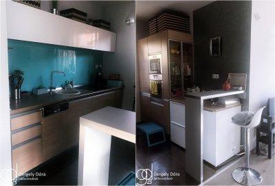 Türkiz konyha - konyha / étkező ötlet, modern stílusban