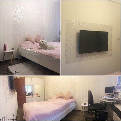 Romantikus hálószoba - háló ötlet, modern stílusban