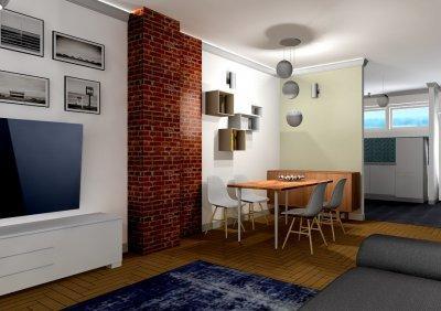 nappali-étkező látványterv - konyha / étkező ötlet, modern stílusban