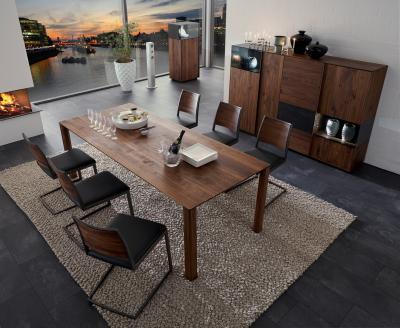 Tölgyfa bútorok az étkezőben - nappali ötlet, modern stílusban