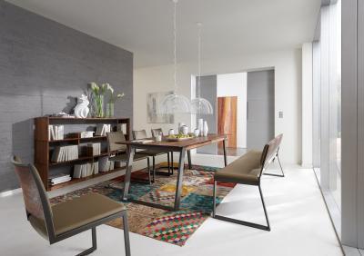 Diófa bútorok - dolgozószoba ötlet, modern stílusban