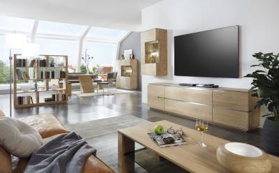 Tömörfa nappali bútorok - nappali ötlet, modern stílusban
