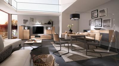 Letisztult megjelenésű bútorok - nappali ötlet, modern stílusban