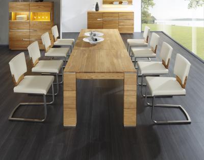 Bővíthető étkezőasztal - nappali ötlet, modern stílusban