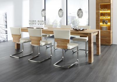 Tölgyfa étkezőasztal - nappali ötlet, modern stílusban