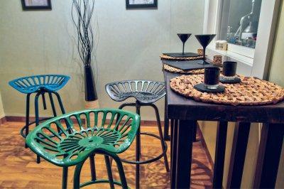 Mini étkező (home-staging előtt) - konyha / étkező ötlet, modern stílusban