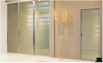 Alumínium keretes nyíló és tolóajtók - nappali ötlet, modern stílusban