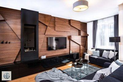 Belvárosi lakás nappalija - nappali ötlet, modern stílusban