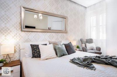 Egyszerű, elegáns belvárosi hálószoba - háló ötlet, modern stílusban