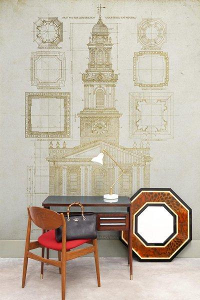 Architectures posztertapéta - dolgozószoba ötlet, modern stílusban