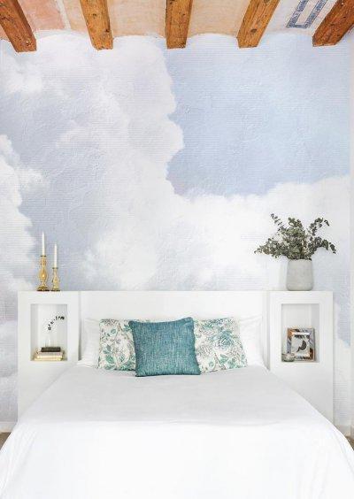 Clouds tapétaposzter - háló ötlet, modern stílusban