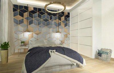 Hálószoba játékosan - háló ötlet, modern stílusban