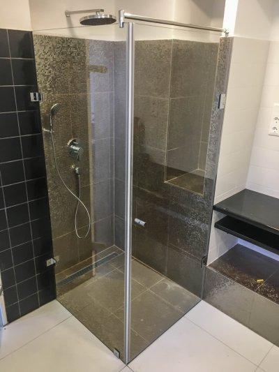 Walk in zuhanykabin - fürdő / WC ötlet, modern stílusban