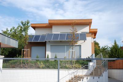 Az első minősített Ytong & Multipor passzív családi ház - homlokzat ötlet, modern stílusban
