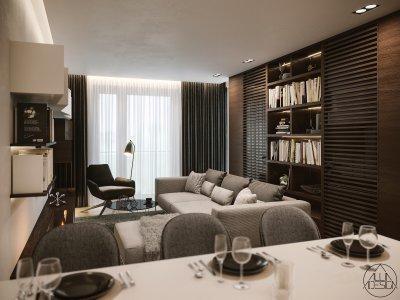 Nappali élettér - nappali ötlet, modern stílusban
