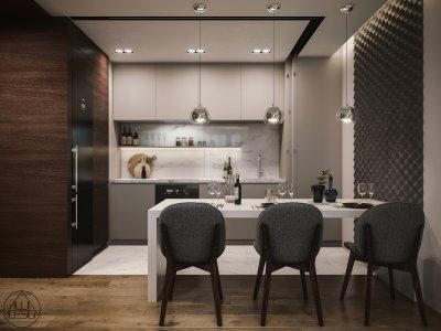 Étkező-konyha - konyha / étkező ötlet, modern stílusban