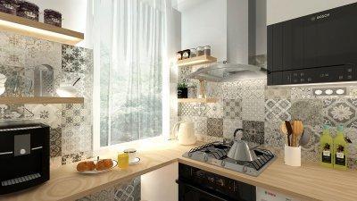 Vidám reggelek - konyha / étkező ötlet, modern stílusban