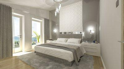 Hotel hangulat otthonra - háló ötlet, modern stílusban