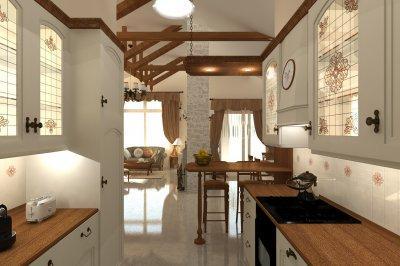 Klasszikus mediterrán családi ház - konyha / étkező ötlet