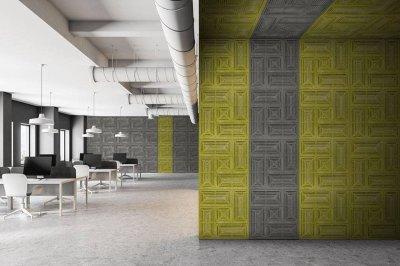 akusztikus panel- Buzzer - dolgozószoba ötlet, modern stílusban