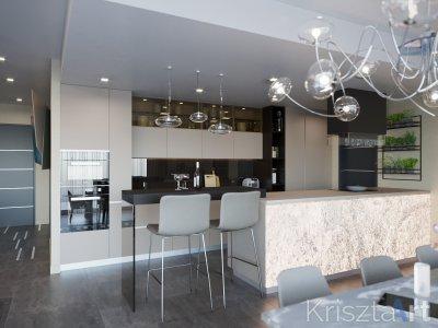 Elegáns konyha - konyha / étkező ötlet, modern stílusban
