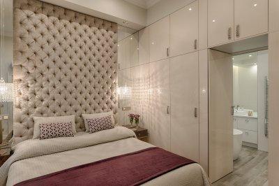 Elegáns hálószobából nyíló fürdőszoba - háló ötlet, klasszikus stílusban