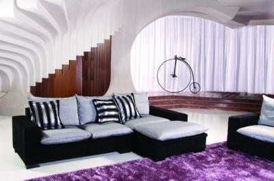 Monte Carlo sarokkanapé - nappali ötlet, modern stílusban