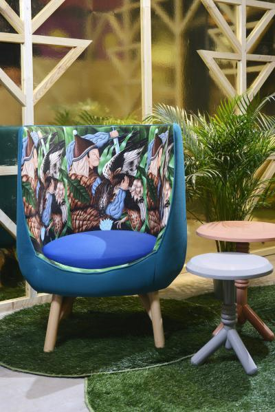 Tarka fotel - nappali ötlet, modern stílusban