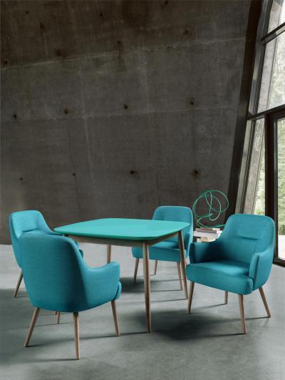 Toledo szék és asztal - nappali ötlet, modern stílusban