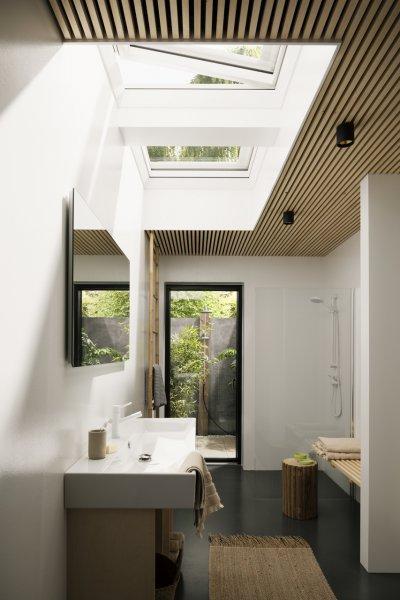 Natúr hatás a fürdőszobában - fürdő / WC ötlet, modern stílusban