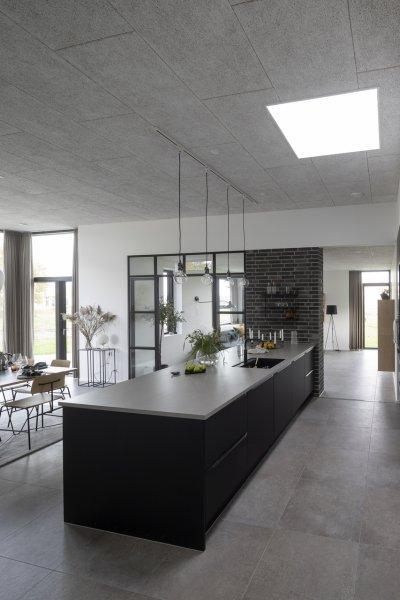 Kőhatás - konyha / étkező ötlet, modern stílusban