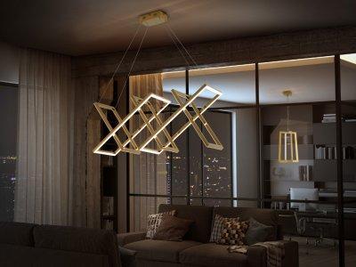Limus LED lámpa - nappali ötlet, modern stílusban