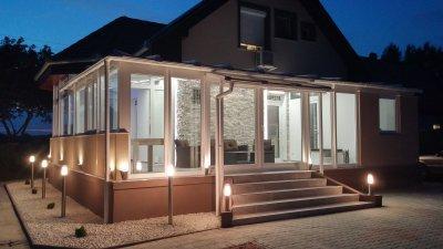 Télikert, terasz beépítés Vál - erkély / terasz ötlet, modern stílusban