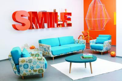 Miami kanapé - nappali ötlet, retro stílusban