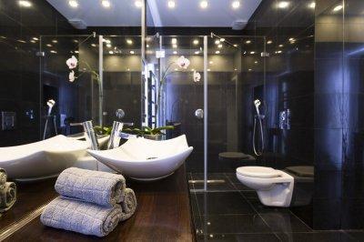 Egyedi zuhanykabin - fürdő / WC ötlet, modern stílusban
