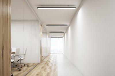 Üvegfal térelválasztó dolgozószoba és tárgyaló kialakítása - dolgozószoba ötlet