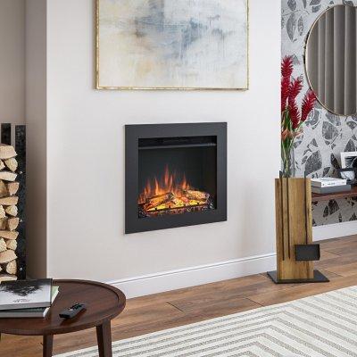 Beépíthető tűztér - nappali ötlet, modern stílusban