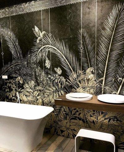 Vízálló tapéta - fürdő / WC ötlet