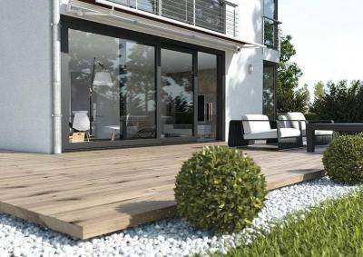Emelő-toló teraszajtó - erkély / terasz ötlet, modern stílusban