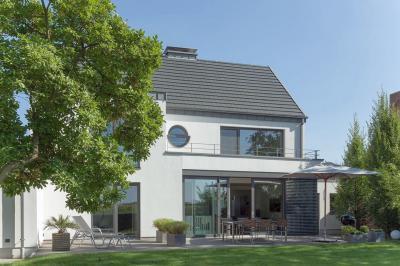 Emelő-toló teraszajtó és ablakok - homlokzat ötlet, modern stílusban