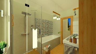 Modern szülői fürdő 1. - fürdő / WC ötlet, modern stílusban