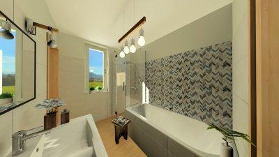Modern szülői fürdő 2. - fürdő / WC ötlet, modern stílusban
